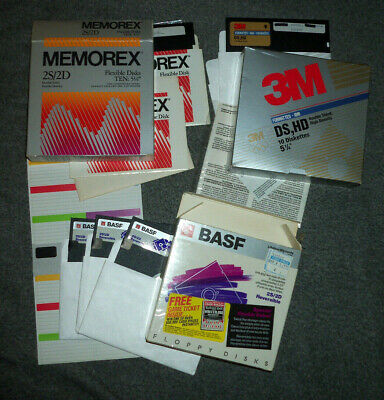 Vintage Radio Shack High Density Diskettes SEALED Box 10 5 1//4 Diskettes 26-451