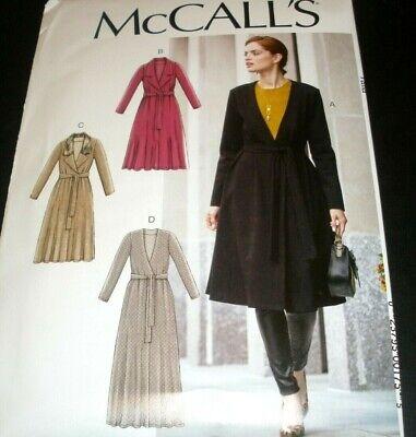 Knit Coat Pattern - McCalls Pattern 10054 7878 Misses Knit Coat Maxi Cardigan Jacket 4-14 or 16-22