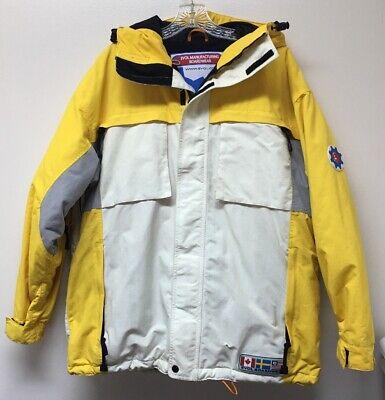 VIntage EVOL MFG Boardwear Snowboarding Ski Hooded Insulated Jacket Men's L