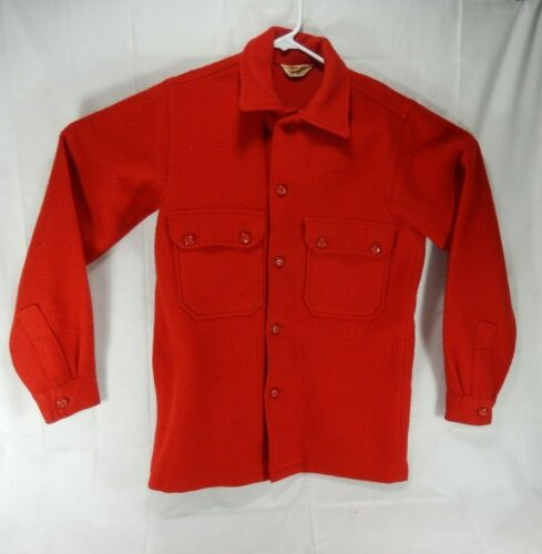 Vintage Red Wool Boy Scouts of America Official Button Front Jacket 552 Size 20