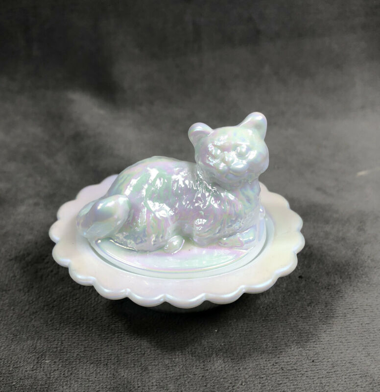 Cat on Nest Salt Dip Milk Carnival Mosser USA