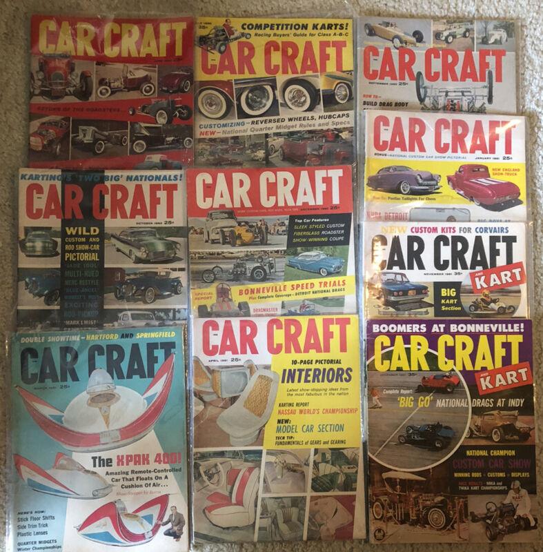 Lot Of 10Vintage Car Craft Magazines  1960 - 1961