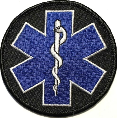 STAR OF LIFE PARAMEDIC EMT EMS RESCUE MEDIC MOTORCYCLE VEST SEW/IRON PATCH C-14