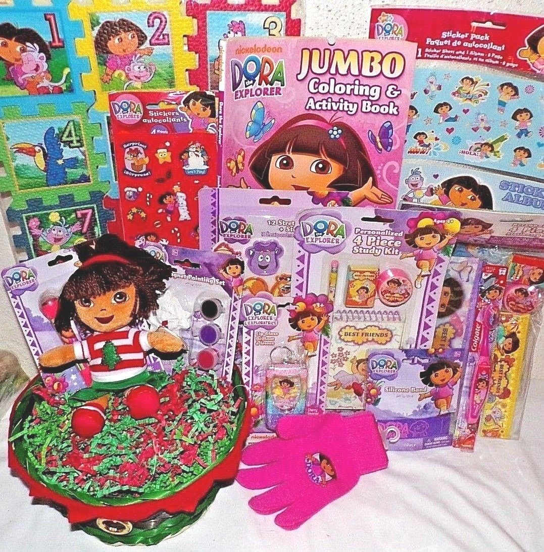 NEW DORA CHRISTMAS TOY GIFT BASKET TOYS DOLL GAME ART PLAY S