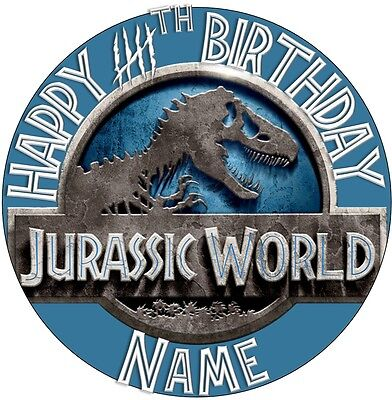 EDIBLE Jurassic World Topper Birthday Party Wafer Paper 19cm (uncut)