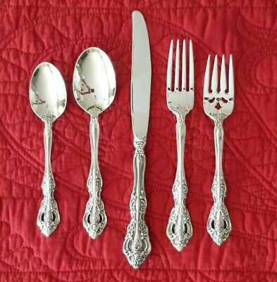 ONEIDA Stainless MICHELANGELO 5 Piece Place Setting Forks Spoons Knife Flatware