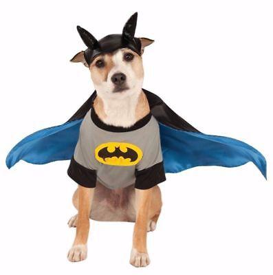DC Comics BATMAN PET DOG COSTUME Shirt w/Detachable Cape & Headpiece Size - Dog Batman Cape