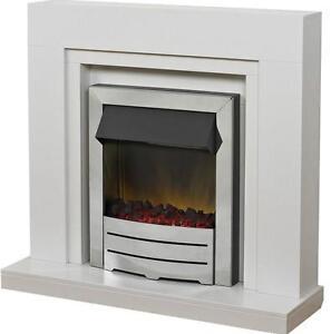 white marble fire surround