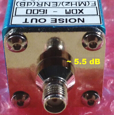 Noise Source Generator Calibrated 10 -1600 Mhz 5.5 Db Enr Sma Noise Figure