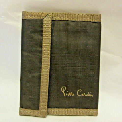 Vintage Pierre Cardin Fabric Wallet Pack Cloth Tan & Brown Unused