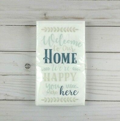 Paper Dinner Napkins Guest Towels Buffet Party 16 Ct Welcome To Our Home