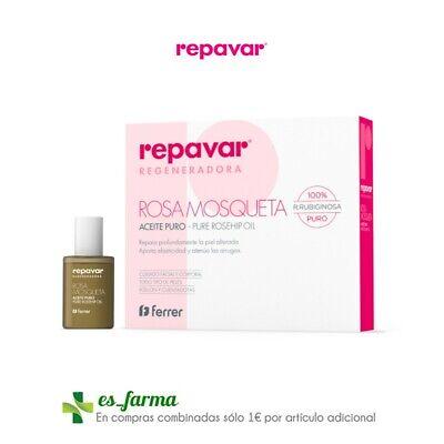 REPAVAR ACEITE PURO ROSA MOSQUETA 15ML ROSEHIP OIL CUENTAGOTAS Y ROLL-ON