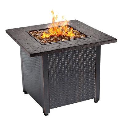 Endless Summer Decorative Push Button Start All Weather Outdoor LP Gas Fire Pit
