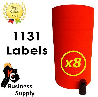 1131 Red Labels For Monarch 1131 Price Gun One Case 8 Sleeves Free Shipping