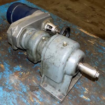 Nord Gear Reducer Sk 3001-r100z-71l4 W Leeson 1725rpm 12hp Motor C6t17fc10e
