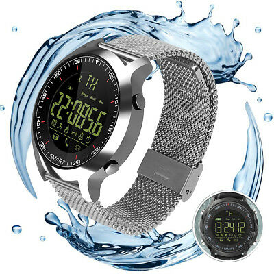Bluetooth Smart Watch Bracelet EX18 Stainless Steel Phone Mate for Android iOS