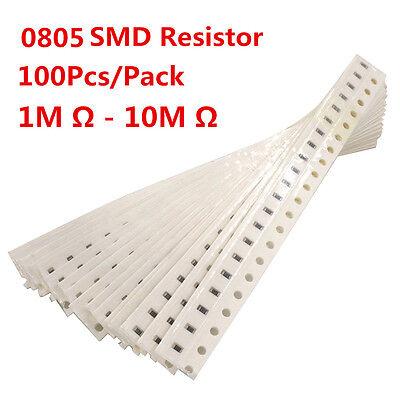 100pcs 0805 Smd Resistor Resistors 1m - 10m Ohm 1 High Quality