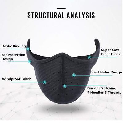 Winter Fleece Ear Warmers Earmuffs Cycling Ski Half Face Mask For Men Women USA