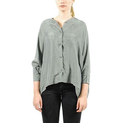 Women's PUMA x HUSSEIN CHALAYAN UM Silk Shirt Sedona Sage size XL $138
