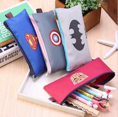 The Avengers Student Pencil Pen Case Cosmetic Pouch Pocket Makeup Bag