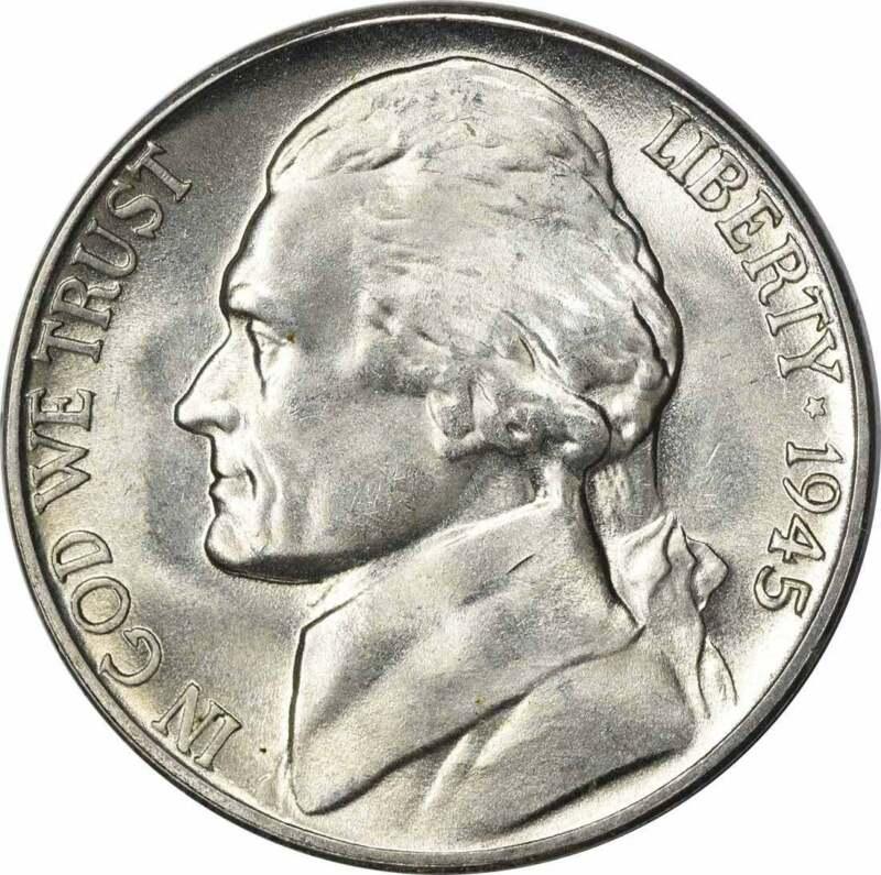 1945-D Jefferson Nickel Choice BU Uncertified