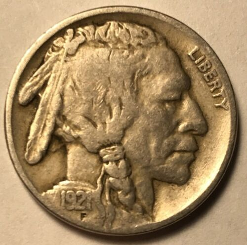 FINE 1921 Buffalo Nickel Nice Sharp Date FREE SHIPPING!