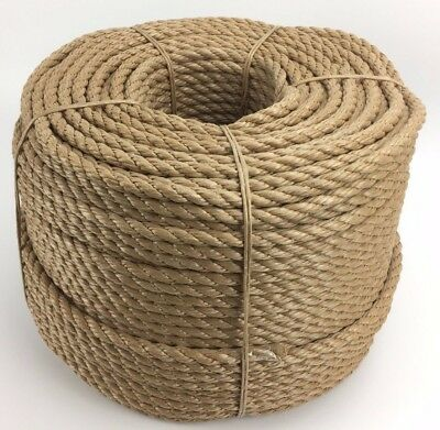 12mm Synthetic Manila x 100 Metre Coil, Manila For Decking, Garden & Boating