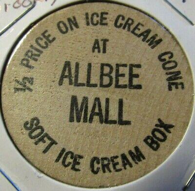 Vintage Allbee Mall Brooklyn, NY Wooden Nickel - Token New (Brooklyn Mall New York)