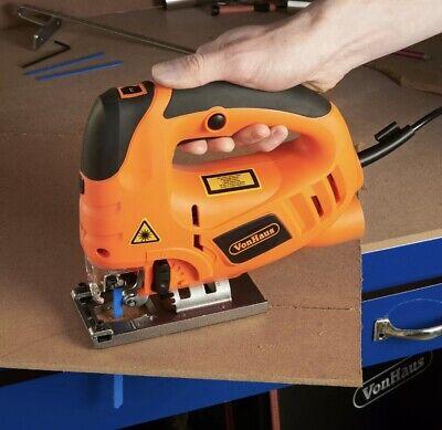Pendulum Jigsaw Laser Guide Variable Speed Aluminium Base Blades Best Xmas