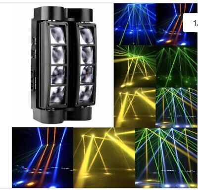 80W 8-Leds RGBW LED Spider Moving Head Stage Lights Lighting DMX Disco Party