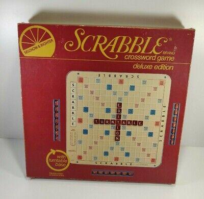 Scrabble Crossword Game Deluxe Edition Belchow & Ritcher 1977 Complete