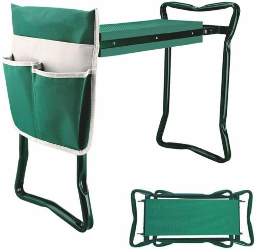 Garden Kneeler and Seat Stool Heavy Duty Garden Folding Bench with Large Tool Po