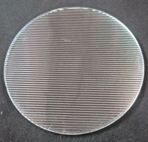 """Pyrex Glass 4-5/16"""" Ribbed Lines Theater Stage Light Gel Flat 1 Diffuser Lens"""