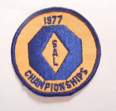 "SAL Championships 1977 Patch  - Suburban Aquatic League 3"" x 3"""