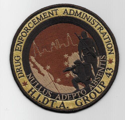 DEA HIDTA Narcotics Group 43 Tactical SWAT SRT Brown Version Police Sheriff