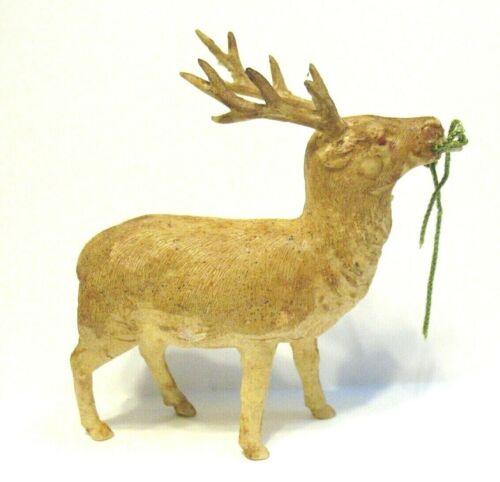 VINTAGE CELLULOID REINDEER JAPAN 3 1/2 X 3 INCHES #3