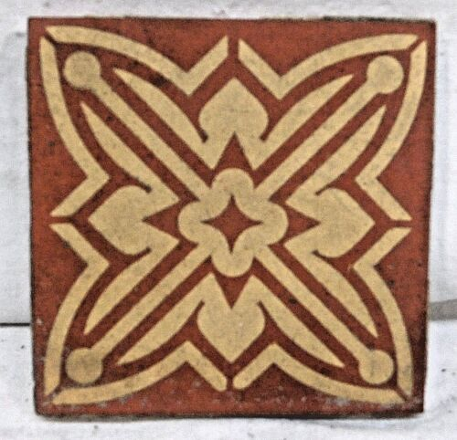 "U.S.E.T. Co. 4 1/4"" U.S. Encaustic Tile Co. Tile - C. 1900 Architectural Salvage"