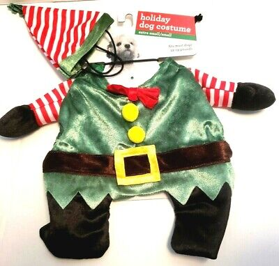 NEW Pet Shoppe Elf Christmas holiday costume dress outfit XS/Small - Holiday Pet Kostüm