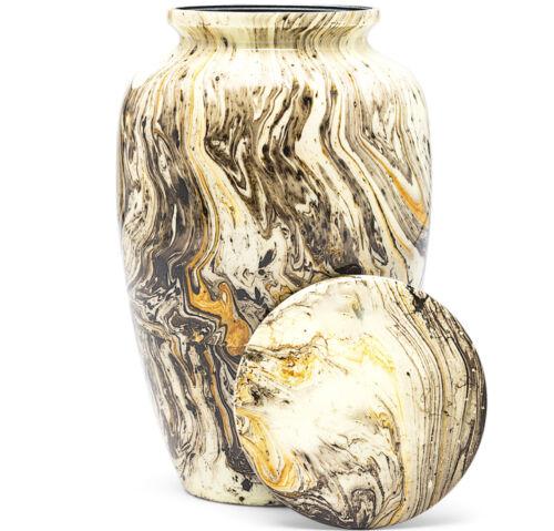 Cremation Urn for Human Ashes | Funeral Urn for Adults Remains Velvet Bag- Gold
