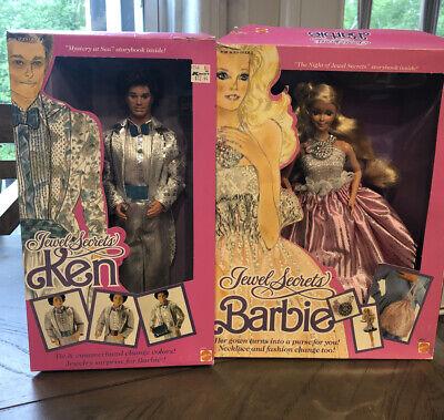 Barbie And Ken Jewel Secrets Dolls Mattel Vintage 1986