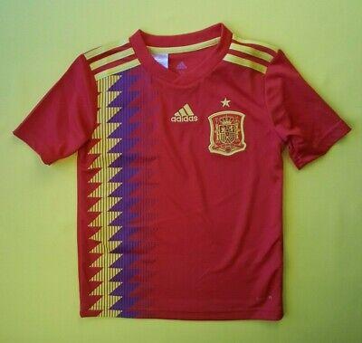 2f518fb95b6 5/5 Spain soccer kids jersey 7-8 years 2018 home shirt BR2713 Adidas ig93