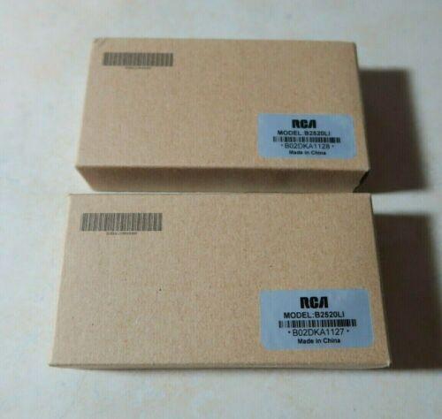 Lot of 2 Genuine RCA Radio Battery B2520LI Li-ion 2000mAh for BR250