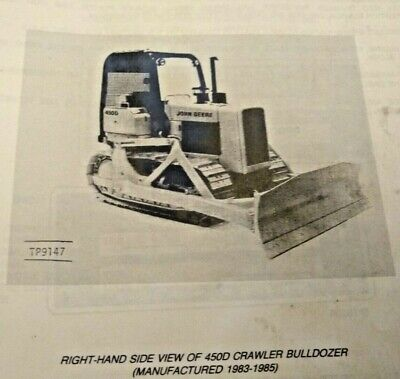 John Deere 450d Crawler Bulldozer Parts Manual Catalog List Book Pc1891