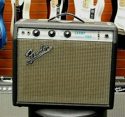 Vintage 1969 Fender Silverface Champ All Tube Guitar Amplifier! NICE NO RESERVE!