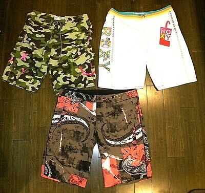 3 PAIR - ROXY - HURLEY Women's Board Shorts / Swim Suit ~ WO