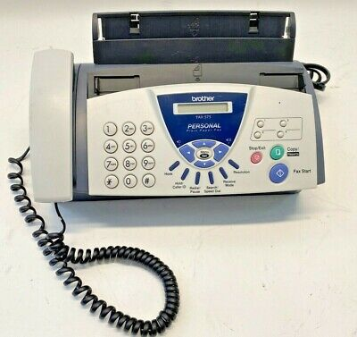 Brother Fax-575 Personal Fax With Phone  Copier Tested Plain Paper Fax Clean