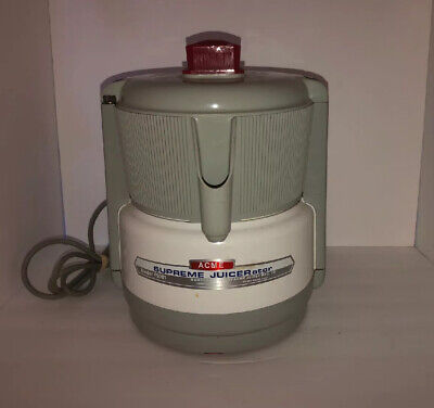Acme Supreme Juicerator Centrifugal Food Juicer model 5001 White