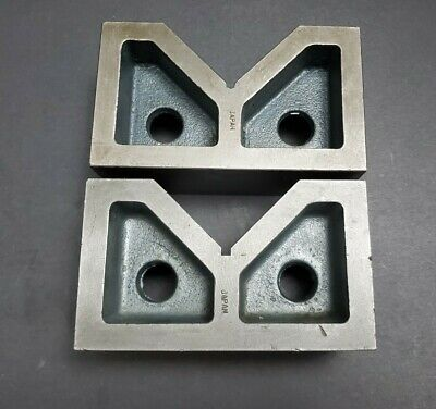 6 V Block Pair Machinist Fixture Grinding Milling Angle Plate Right Cast Iron