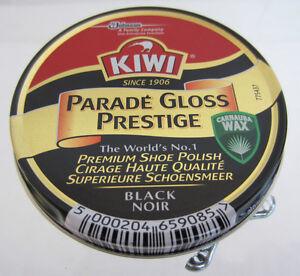 Kiwi Shoe Polish Parade Gloss Prestige  BLACK .  (50 ML)