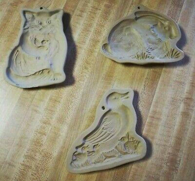 Vintage Brown Bag Cookie Art - Cookie Molds- cat, rabbit, geese, goose1983, 1988